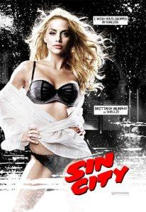 Poster di Sin City con immagine del personaggio di Brittany Murphy, Sally